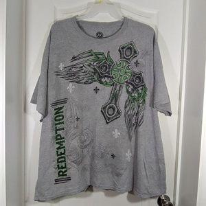 Hybrid Mens Grey Casual T Shirt 4X